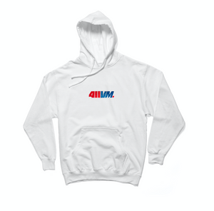 411VM Embroidered Hoodie - White