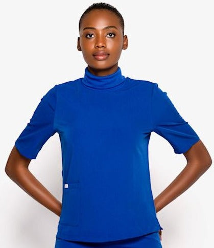 Turtleneck Scrub Top (Royal Blue)