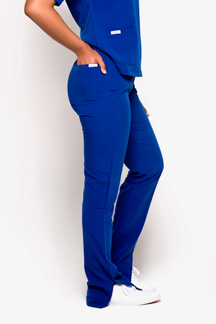 Turtleneck Scrub Pants (Royal Blue)