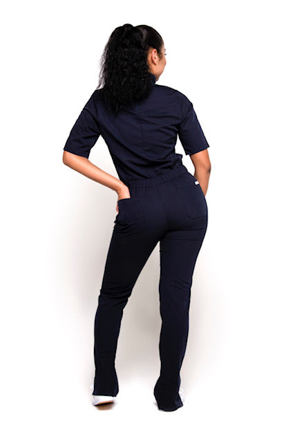 Turtleneck Scrub Pants (Navy Blue)