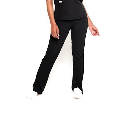 Turtleneck Scrub Pants (Black)