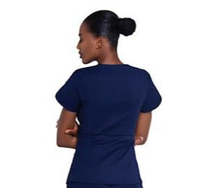 Mahoney Navy Blue Scrub Top