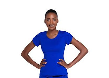 Mahoney Royal Blue Scrub Top
