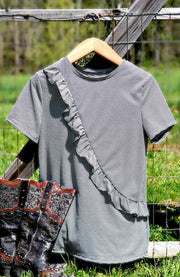 Emory Ruffle Tee-Tops-Medium-Southern Comfort Boutique