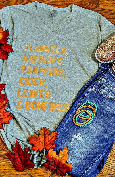Fall List Tee Light Gray-Tops-XLarge-Southern Comfort Boutique