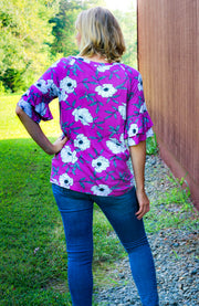 Violet Top-Tops-Small-Southern Comfort Boutique