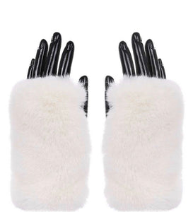 Fur Baby Hand Warmers (white faux fur)