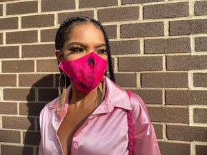 Mask Up (Tie Dye Coral Pink)