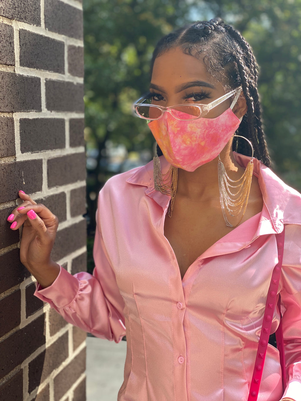 Mask Up (Tie Dye Light Pink)