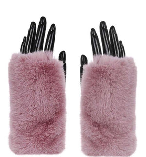 Fur Baby Hand Warmers (pink faux fur)