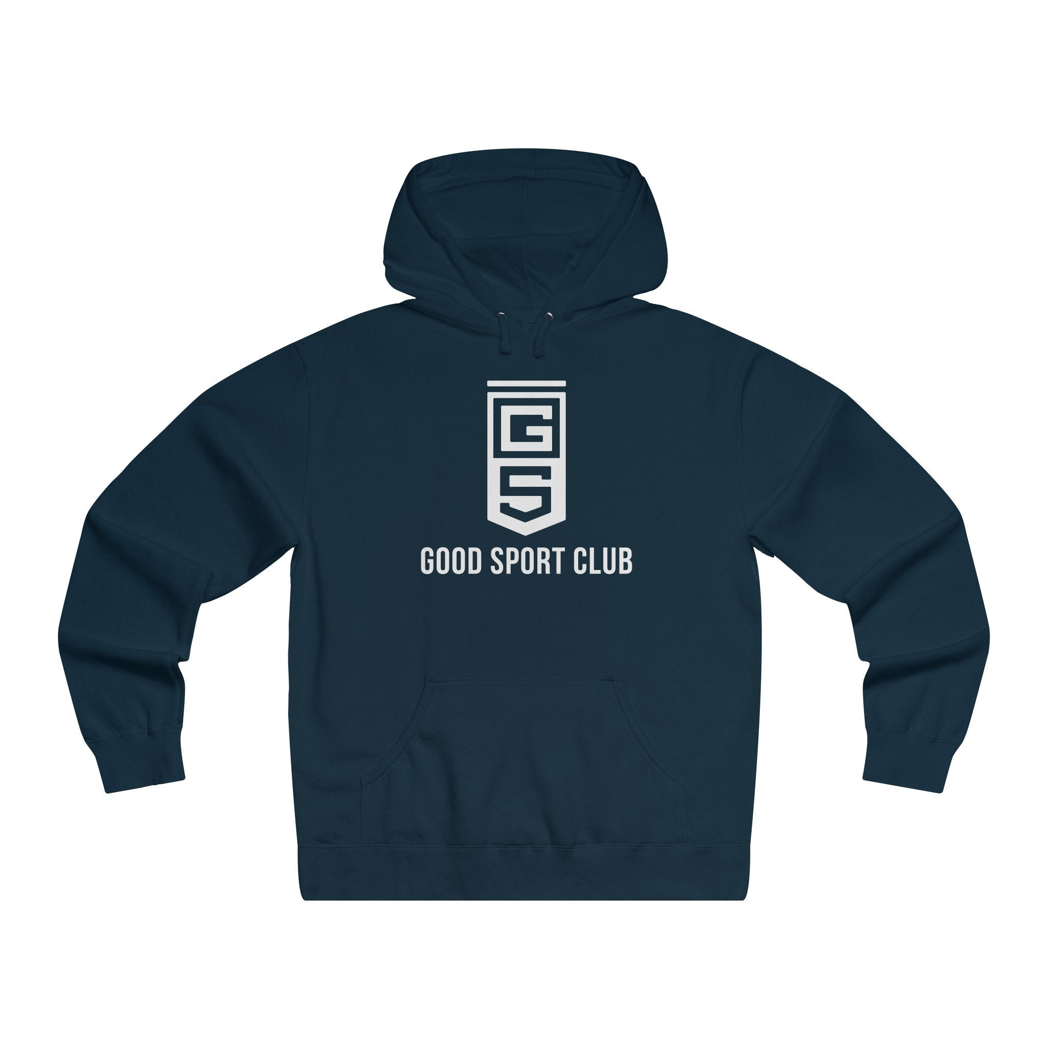 Navy Hoodie Pullover-Good Sport Club