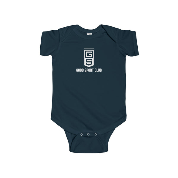 Navy Infant Fine Jersey Bodysuit-Good Sport Club