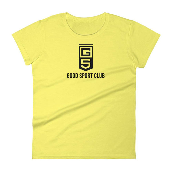 Spring Yellow Women's short sleeve t-shirt-Good Sport Club