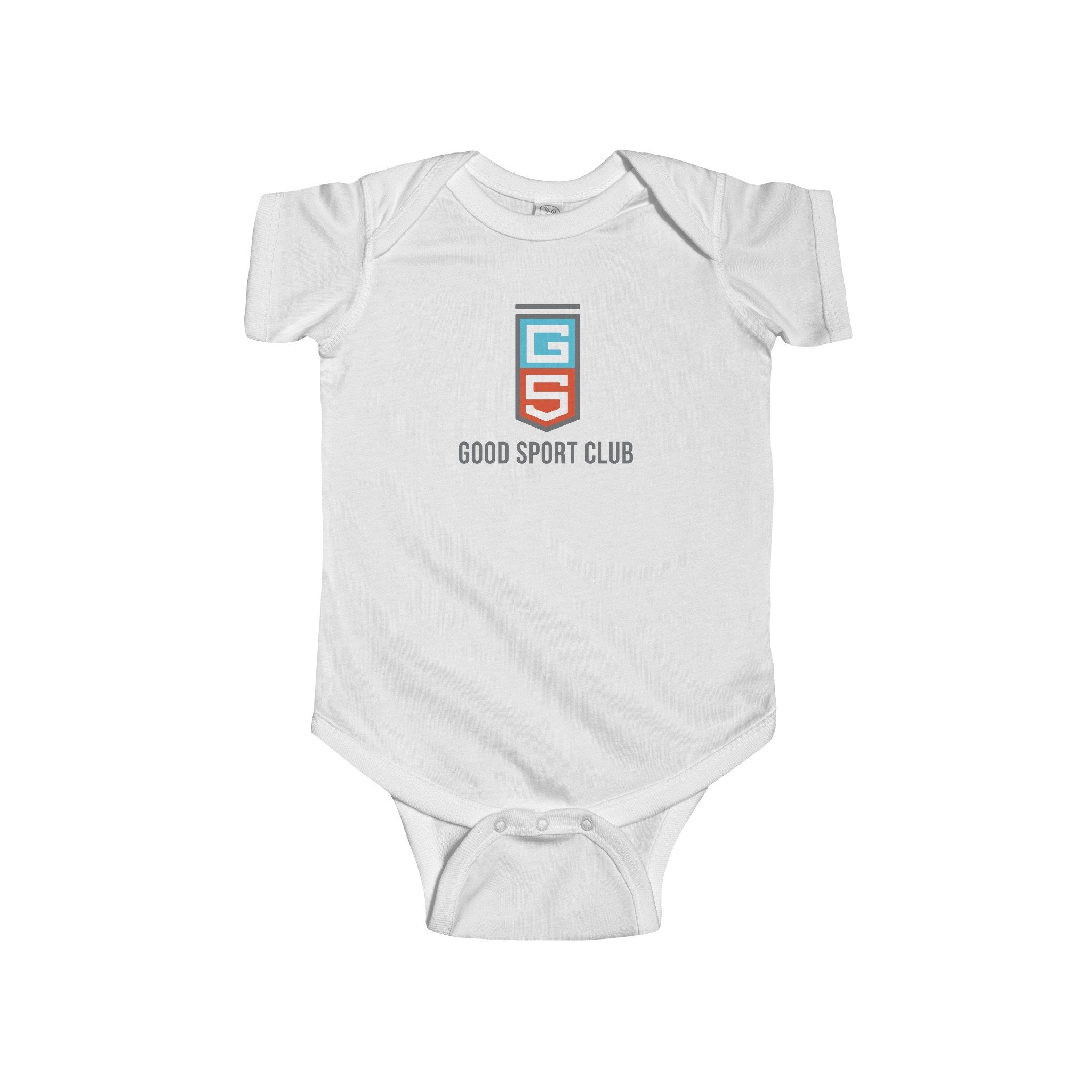 White Infant Fine Jersey Bodysuit-Good Sport Club