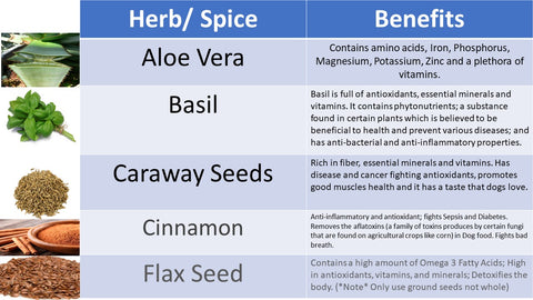 20 Herbs Spices The Good And The Bad Penny Pet Products