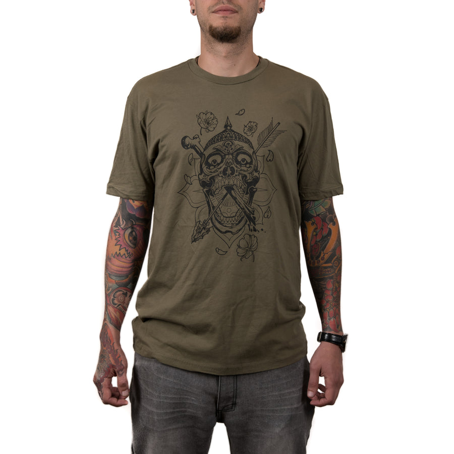 Dickinson Kapala Skull Men's Shirt (Green/Blk)