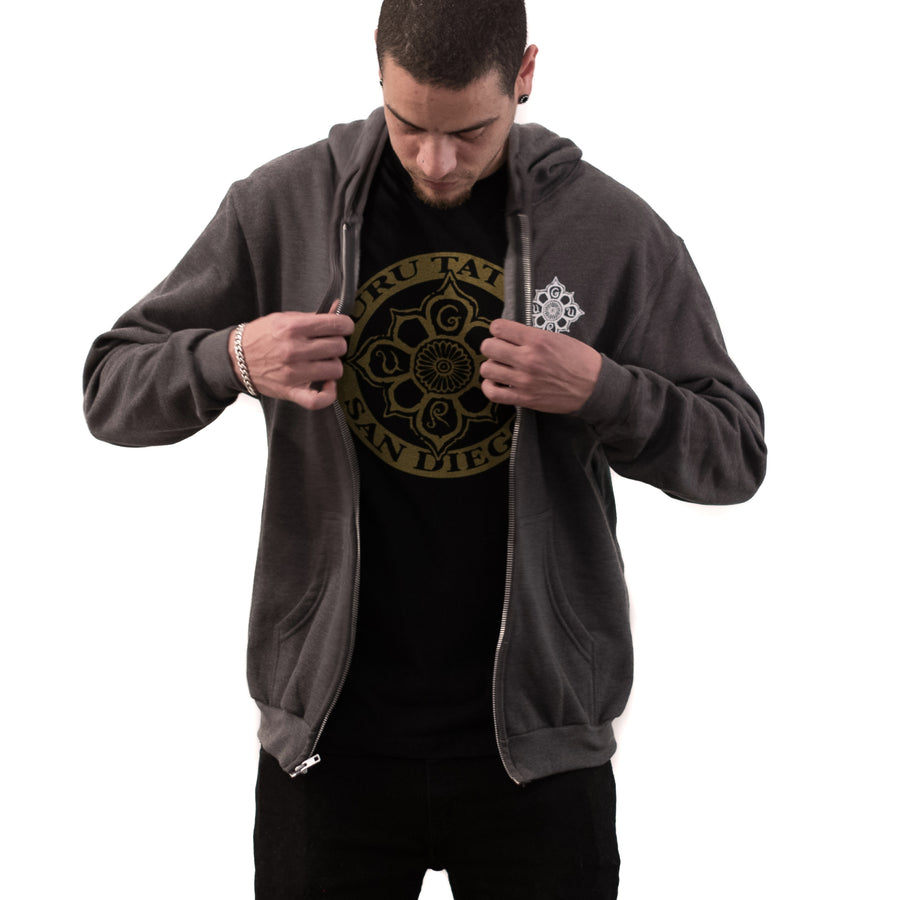 Flower Logo Zip-up (Charcoal)