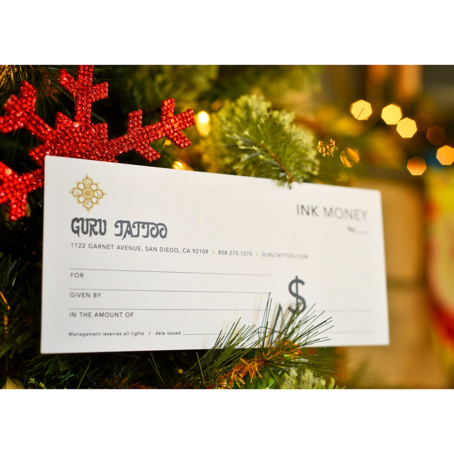 Ink Money Gift Certificate