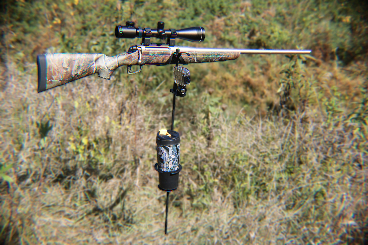 Ready - Aimed - Rest!  Film your hunts while keeping your equipment out of harms way!