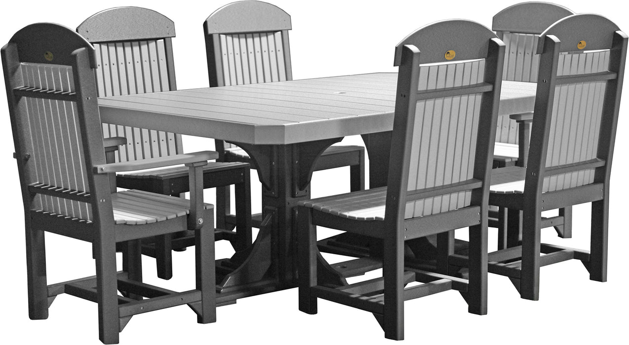 LuxCraft 4' x 6' Rectangle Table Set #2