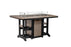 "Berlin Gardens Garden Classic 44"" x 72"" Rectangular Fire Table - Dining Height"