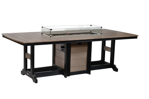 "Berlin Gardens Garden Classic 44"" x 96"" Rectangular Fire Table - Counter Height"