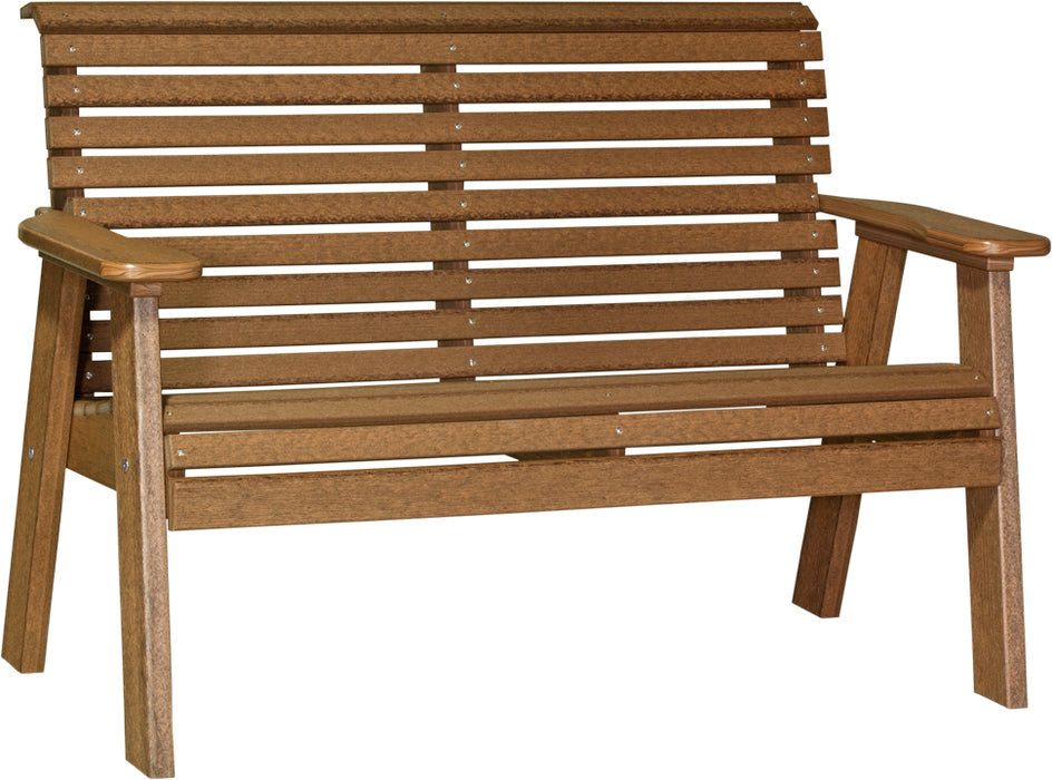 LuxCraft 4' Plain Rollback Bench