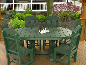 LuxCraft 4' x 6' Oval Table Set #1