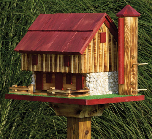 Twin Oaks Barn Bird Feeder with Silo