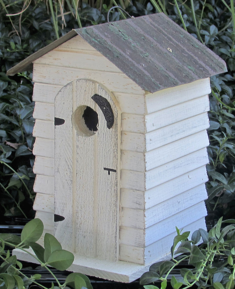 Twin Oaks Board & Batten Outhouse Birdhouse