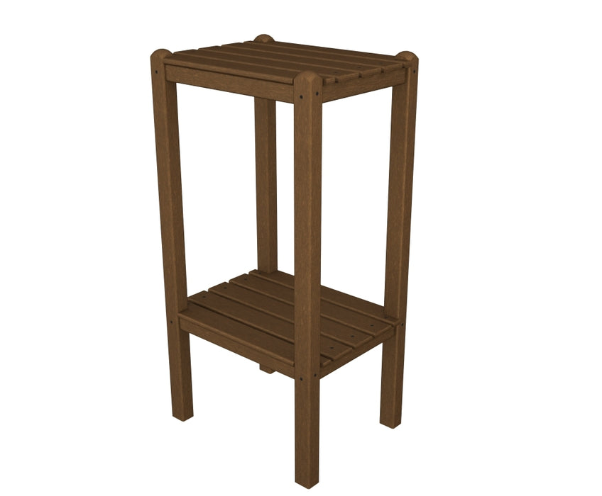 Polywood Two Shelf Bar Side Table