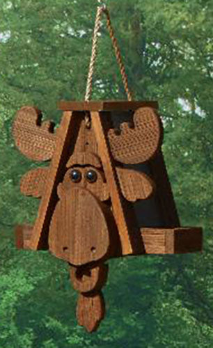 Twin Oaks Cartoon Feeder - Moose