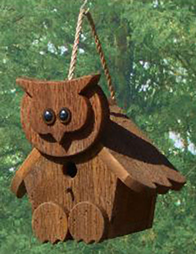Twin Oaks Cartoon Birdhouse - Owl