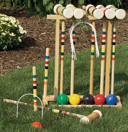 Twin Oaks Croquet Set