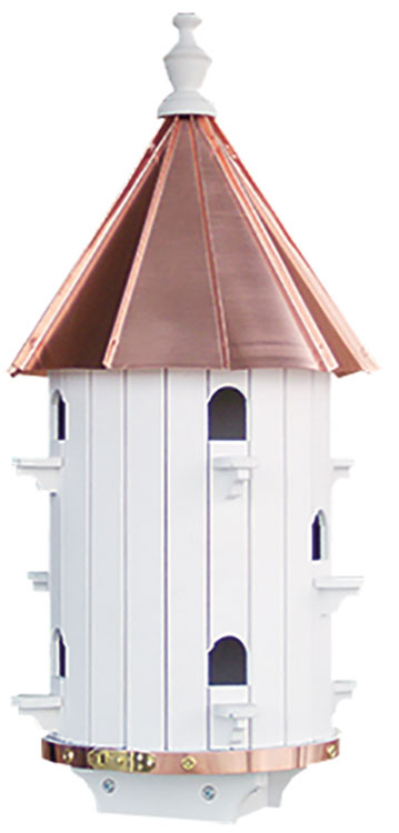 Twin Oaks Copper Roof 10 Hole Birdhouse