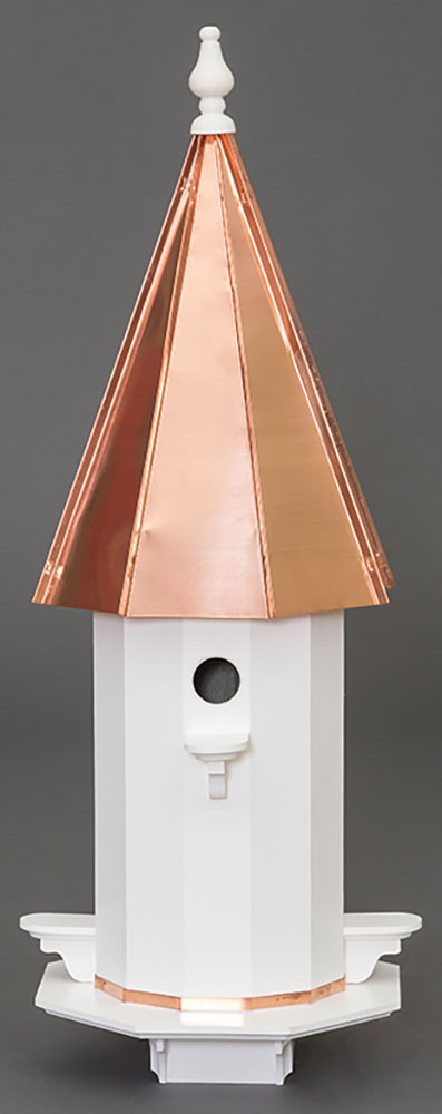 Twin Oaks Copper Roof Vinyl 4 Hole Birdhouse