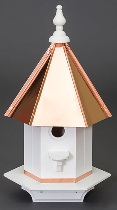 Twin Oaks Copper Roof Vinyl Wood Pecker Birdhouse