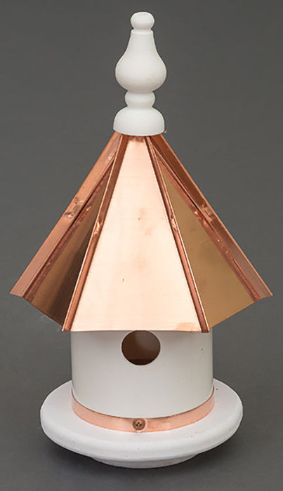 Twin Oaks Copper Roof Vinyl Wren Birdhouse