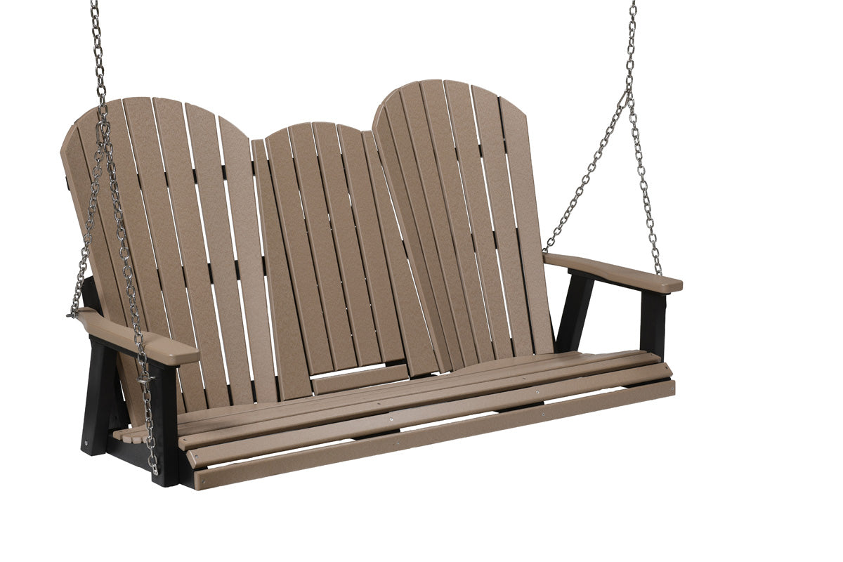 Berlin Gardens Comfo-Back Three Seat Swing with Console