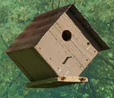 Twin Oaks Diamond Tin Roof Birdhouse
