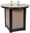 "Berlin Gardens Donoma 44"" Round Fire Table - Bar Height"