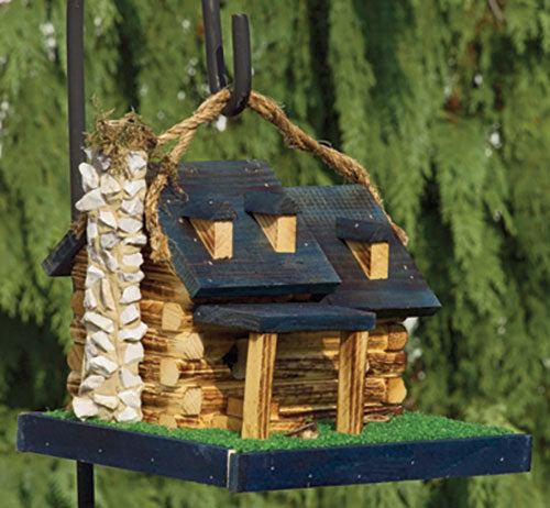 Twin Oaks Log Cabin Birdhouse