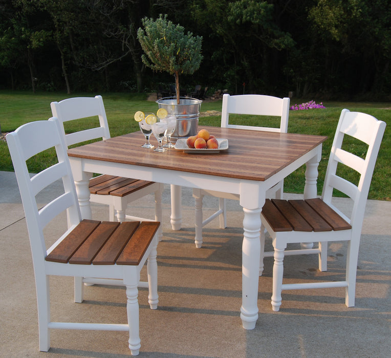 Wildridge Outdoor Farm Table Set With 4 Chairs