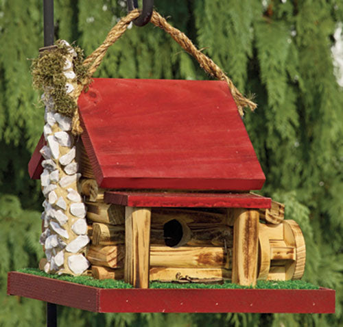 Twin Oaks Mill Cabin Birdhouse