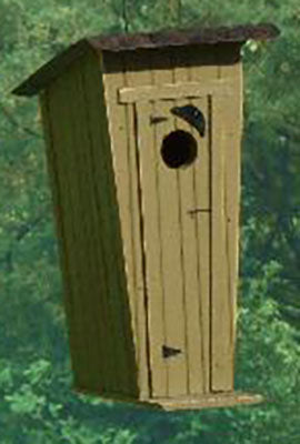 Twin Oaks Outhouse Tin Roof Birdhouse