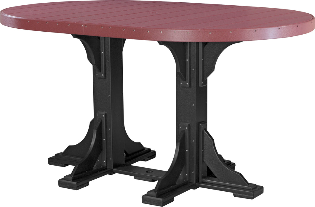 LuxCraft 4' x 6' Oval Table - Bar Height