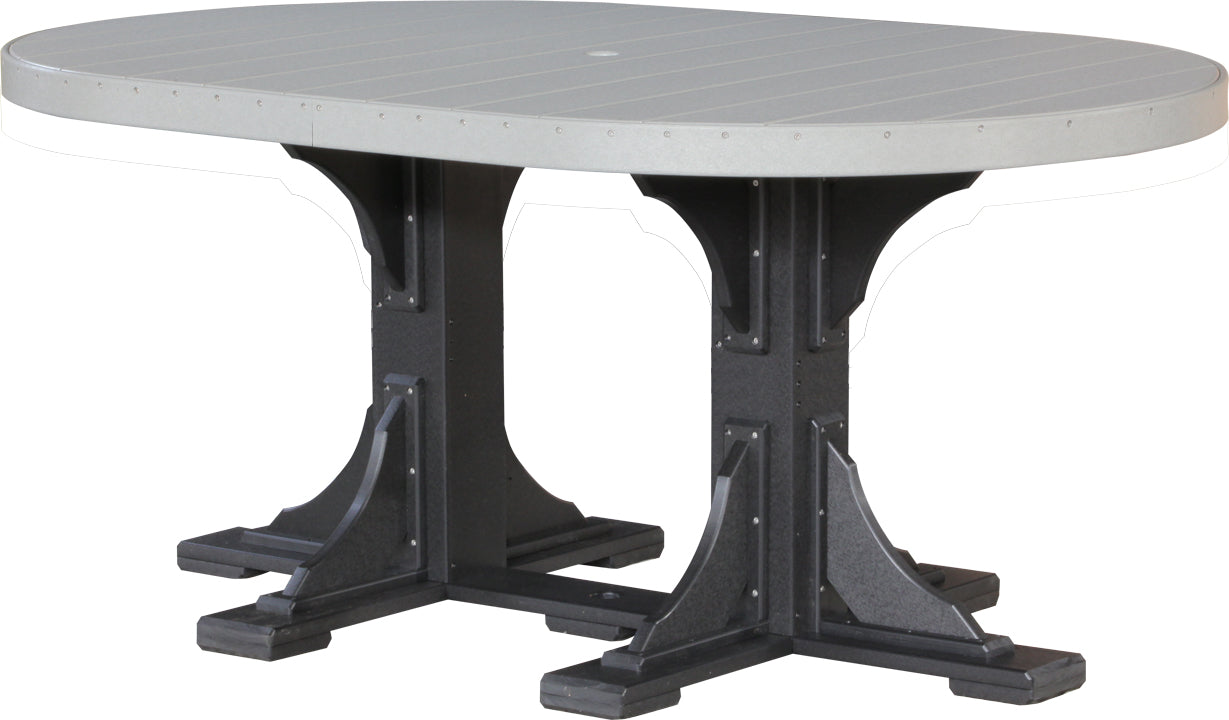 LuxCraft 4' x 6' Oval Table - Counter Height