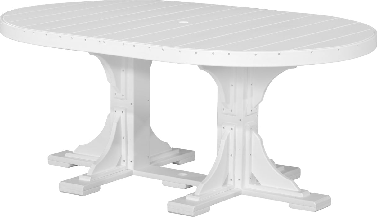 LuxCraft 4' x 6' Oval Table Set #3
