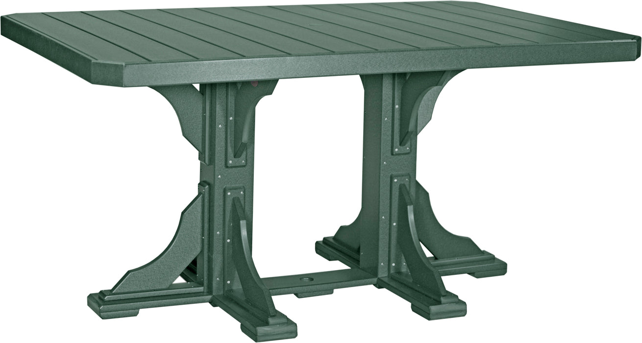 LuxCraft 4' x 6' Rectangular Table - Counter Height