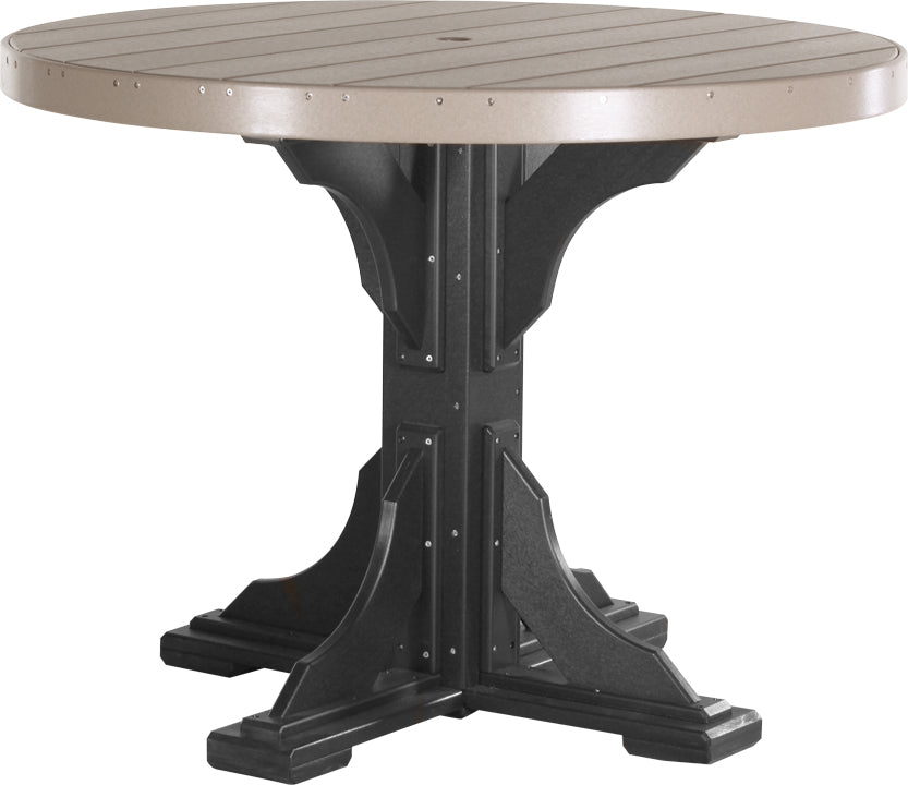 LuxCraft 4' Round Table - Counter Height